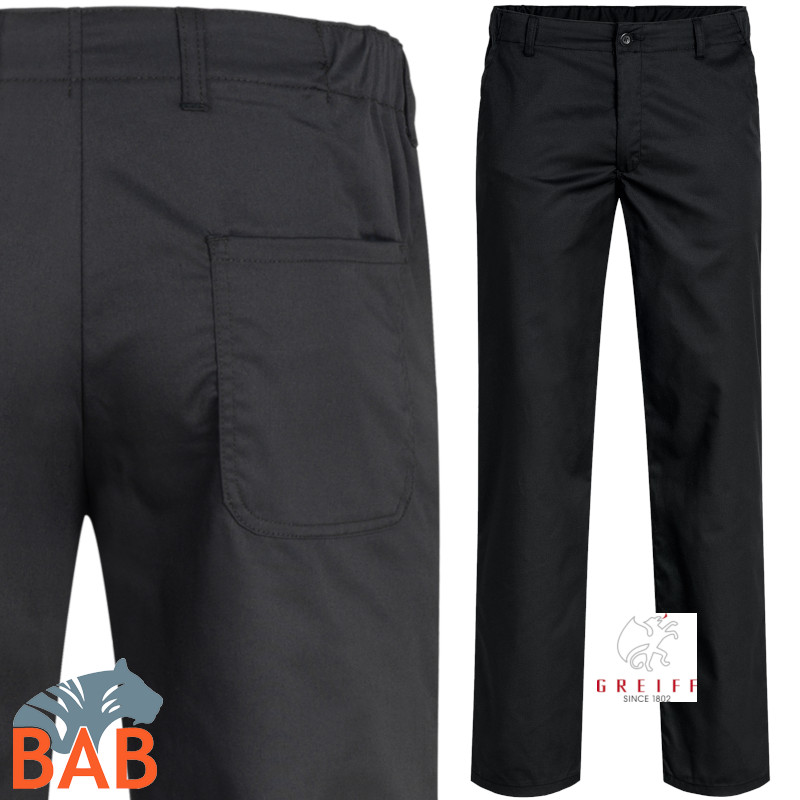 Greiff 110 Herren Hose Regular Fit in schwarz