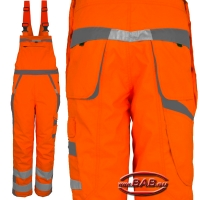 PK-WILH Warnlatzhose Winter warnorange-grau bis 4XL