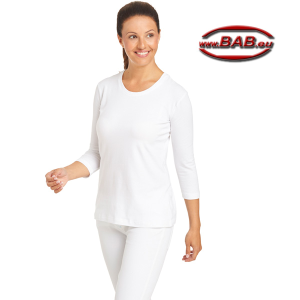 Leiber Damen-Shirt mit 3/4 Arm stretch in taillierter Form