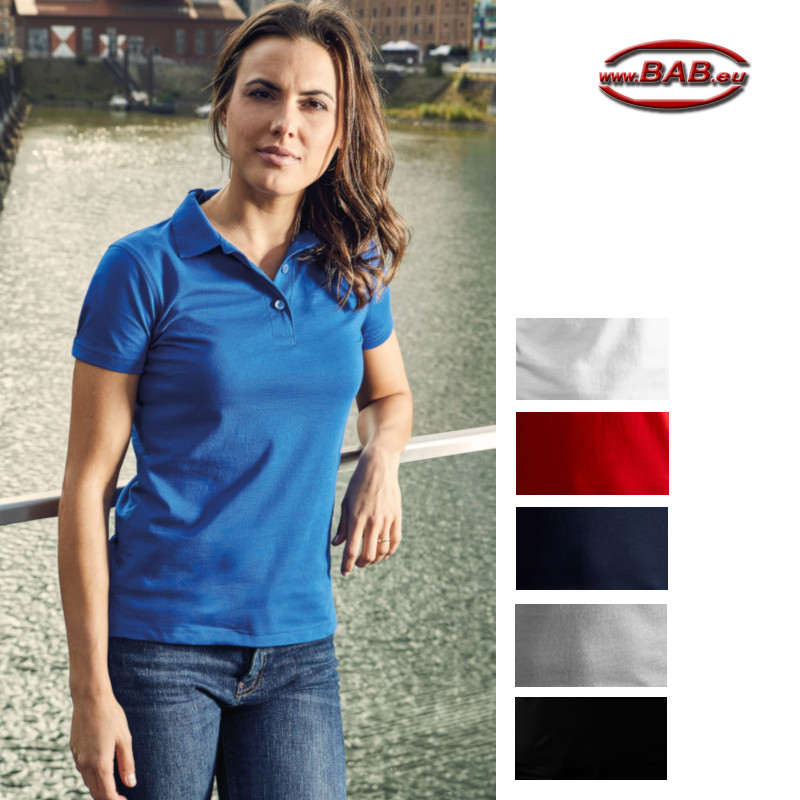 Polo für Damen in black, fire red, navy, white, new light grey,