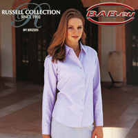 Russell Collection 932F Oxfort-Bluse Berufsmode Hotelbekleidung