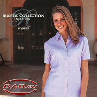 Russell Collection 933F Oxfort-Bluse Berufsmode Hotelbekleidung